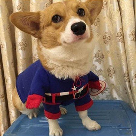 Fantasia para PET Super Herói Capitão América