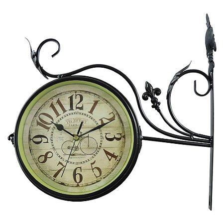 Relógio de Parede Estação Rústico