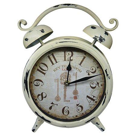 71cae3479d3 Relógio de Mesa Branco Vintage - Loja de Artigos para Decoração ...