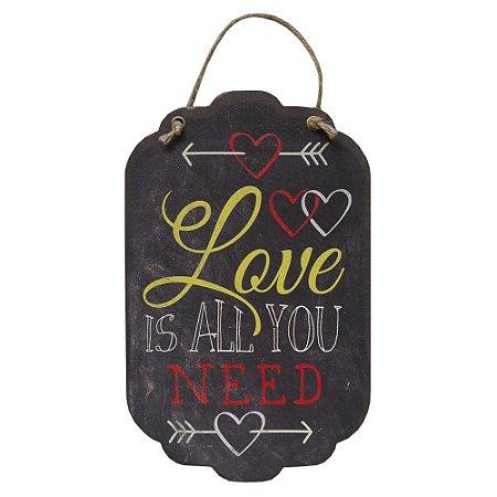 Decorativo Tag de Parede Love is all you need