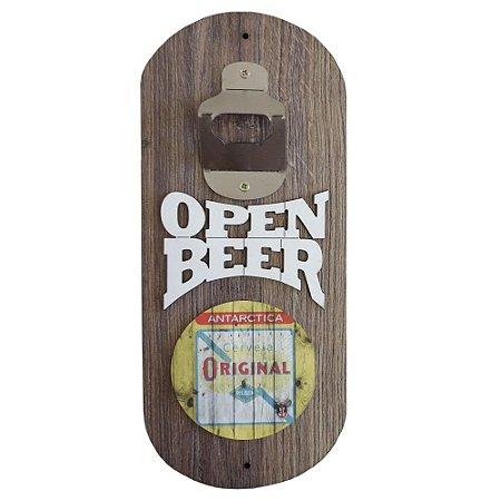 Abridor de Garrafa de Parede Open Beer Original