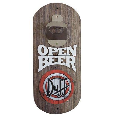 Abridor de Garrafa de Parede Open Beer Duff