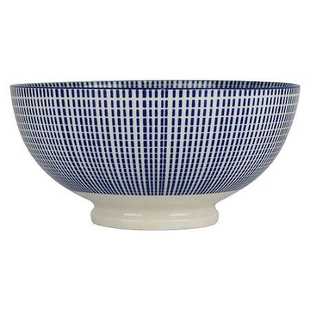 Bowl de Porcelana Pontilhado Quadrado em Cerâmica