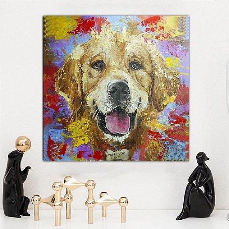 Quadro Canvas Colorido Golden 60cm