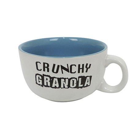 Caneca para Cereais Crunchy Granola Azul