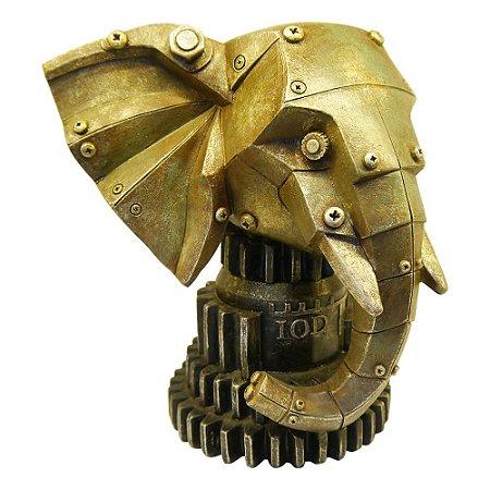 Elefante Mecânico Decorativo com Cofre