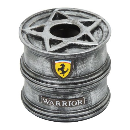 Porta Papel Roda Warrior Prata