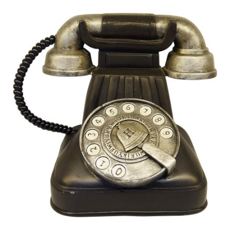 Telefone Vintage Decorativo de Mesa Branco