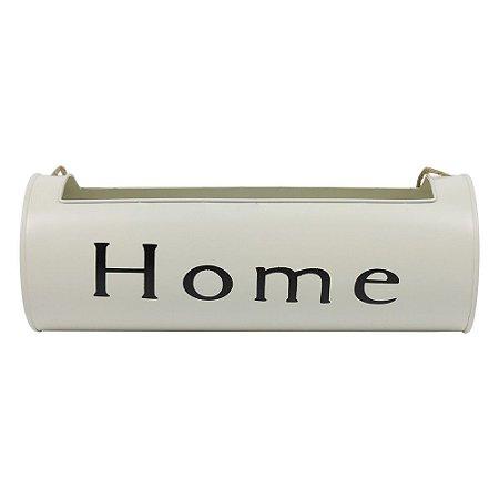 Vaso de Metal Porta Flores Home