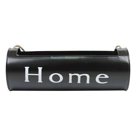 Vaso de Metal Porta Flores Home Black