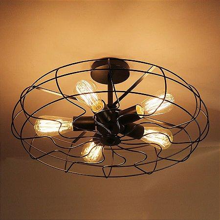 Luminária Pendente Retrô estilo Ventilador