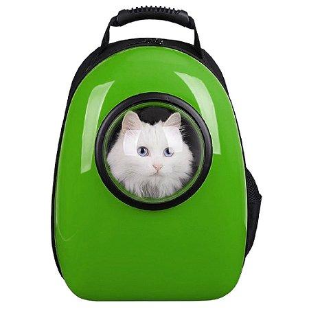 Mochila de Transporte p/ Gatos Verde - Mister Zoo