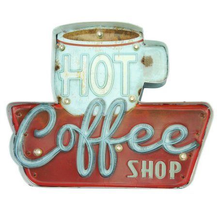 Placa de LED Hot Coffee Shop