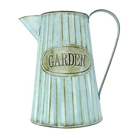 Vaso de Metal estilo Jarro Vintage Garden