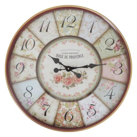 Relógio Rose Provence 60cm