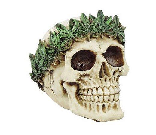 Decorativo Caveira Folhas Cannabis
