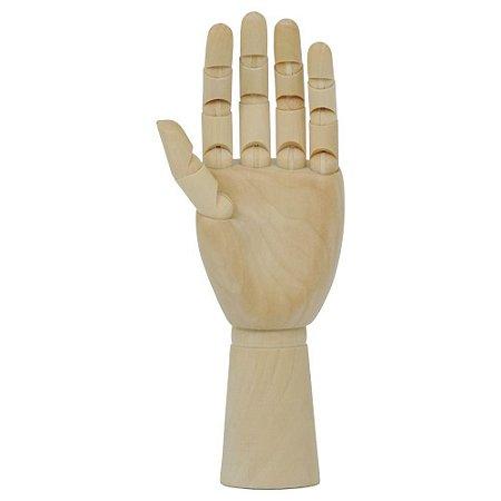 Mão Articulada de Madeira