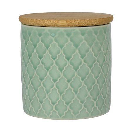 Pote de Cerâmica com Tampa Lyor