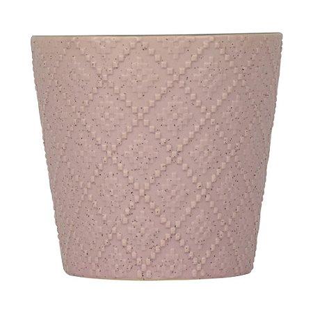 Vaso de Cerâmica Betine Rosa 12x13cm