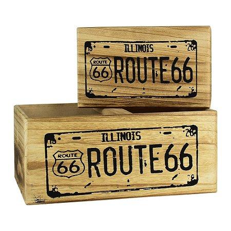 Jogo 2 Caixas Organizadoras Route 66