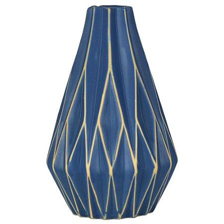 Vaso de Cerâmica Montreal Azul