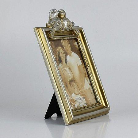 Porta Retrato Dourado Bird