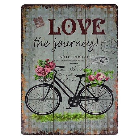 Quadro de Madeira Love the Journey