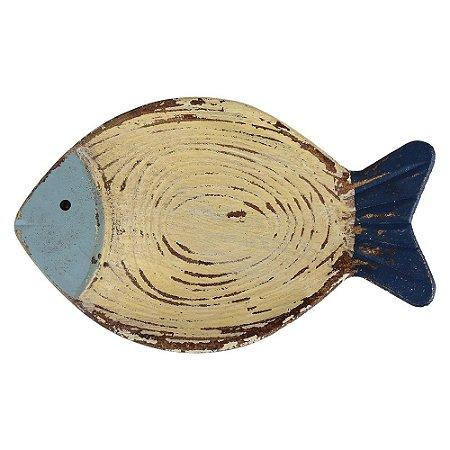 Porta Objetos Peixe de Madeira