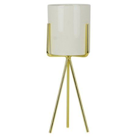 Porta Vela Dourado Glass Grande