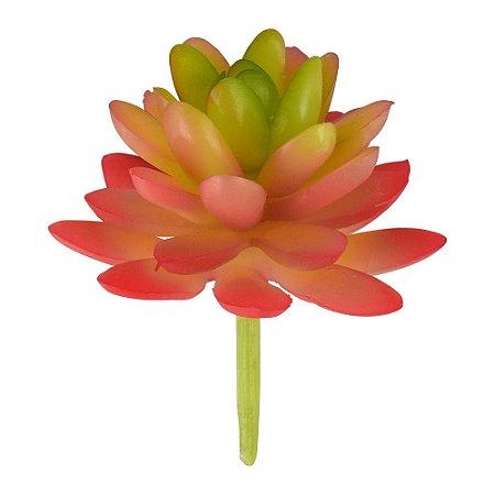 Mini Suculenta Artificial Rosa