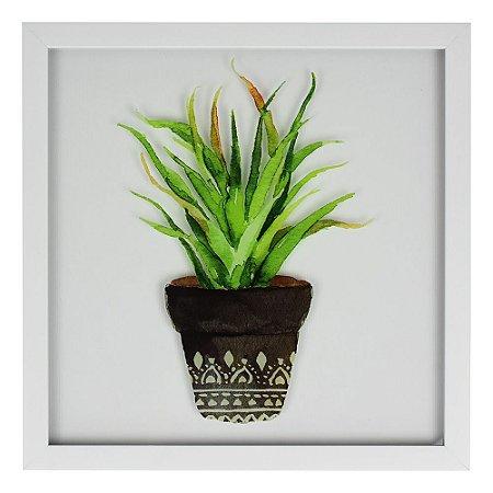Quadro Branco Vaso com Planta