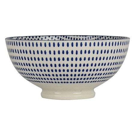 Bowl de Porcelana Pontilhado Redondo
