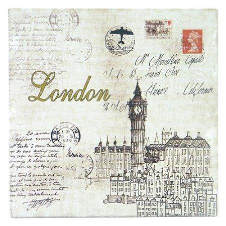 Quadro de Madeira Postal London