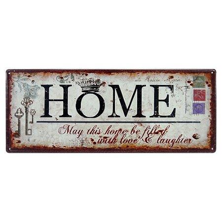 Placa de Metal Home