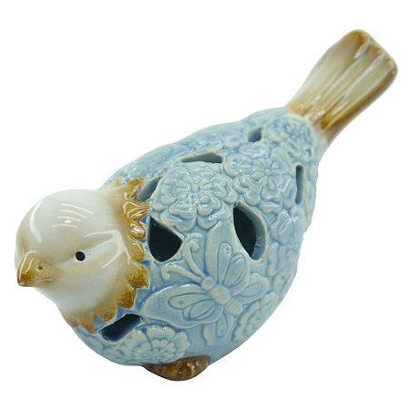 Pássaro de Cerâmica Azul A