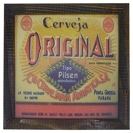 Quadro Rústico Cerveja Original