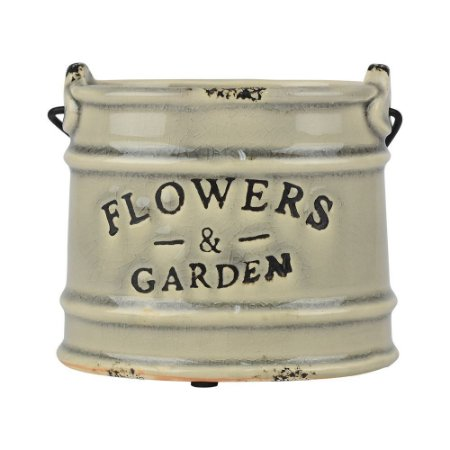 Vaso Cinza Flowers Garden
