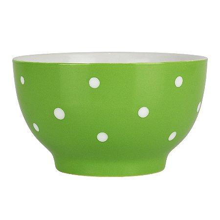 Bowl Verde Pontilhado em Cerâmica