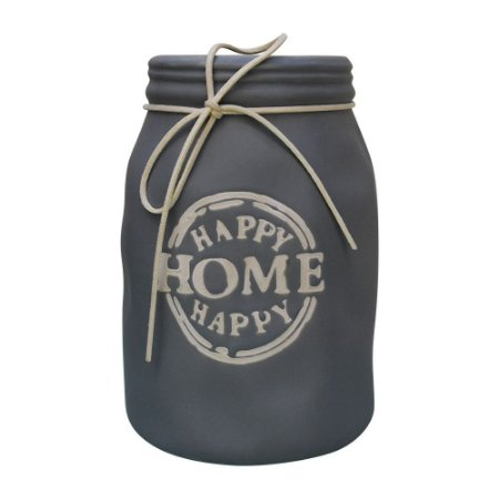 Vaso Happy Home Cinza Escuro