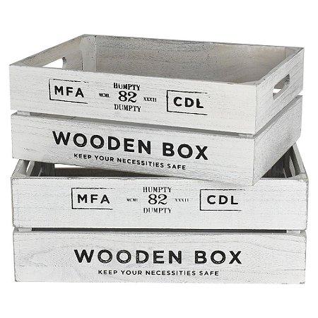 Jg C/2 Caixas Wooden Box Grande