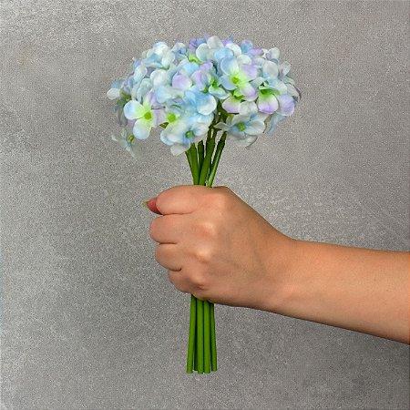 Flor Permanente Hortência Verde