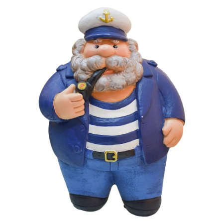 Capitão Marinheiro Gordinho com Cachimbo de Resina
