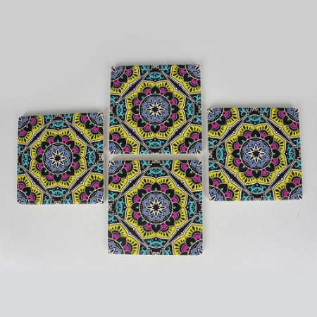 Porta Copos Mandala Jogo C/4 peças