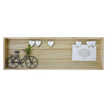 Porta Retrato Varal para Fotos com Bicicleta