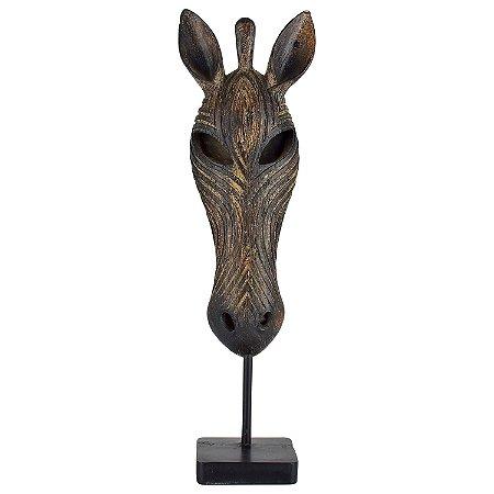 Máscara Africana Animal em Resina