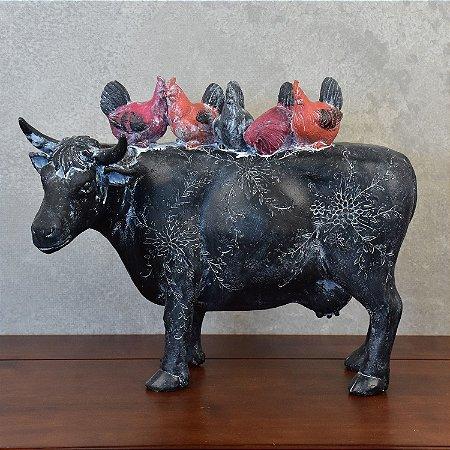 Enfeite Vaca com Galinhas