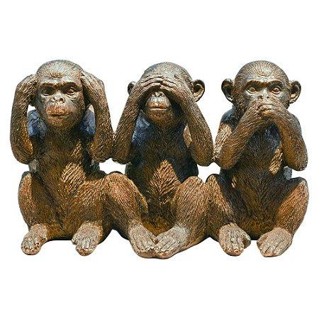 Enfeite Macacos Sabios Rustico