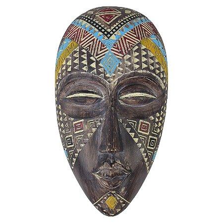Enfeite Máscara Africana em Resina