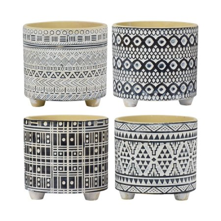 Vaso em Cerâmica Lis Jogo C/4 vasos