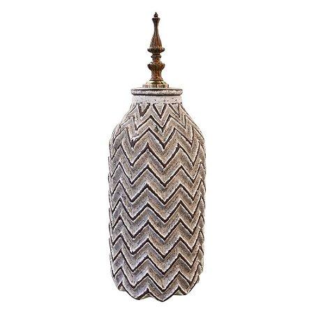Vaso em Cerâmica Stripes Médio